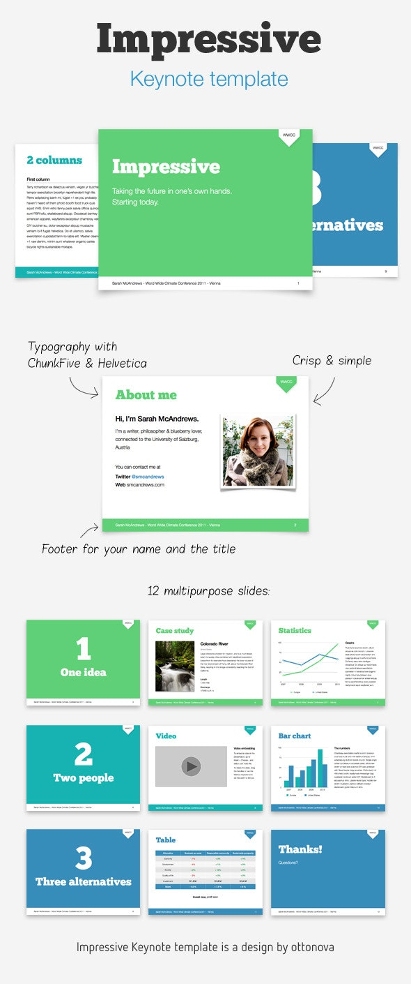 Impressive Keynote template - Business Keynote Templates