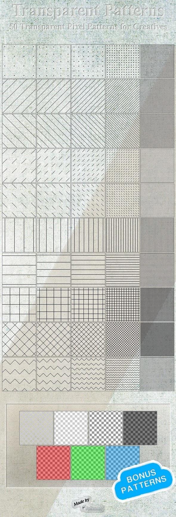 Transparent Patterns - Urban Textures / Fills / Patterns