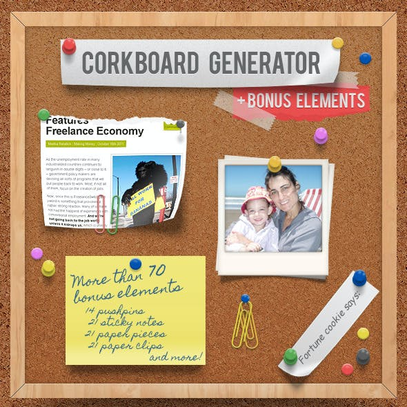 Corkboard - Notice Board Generator Action