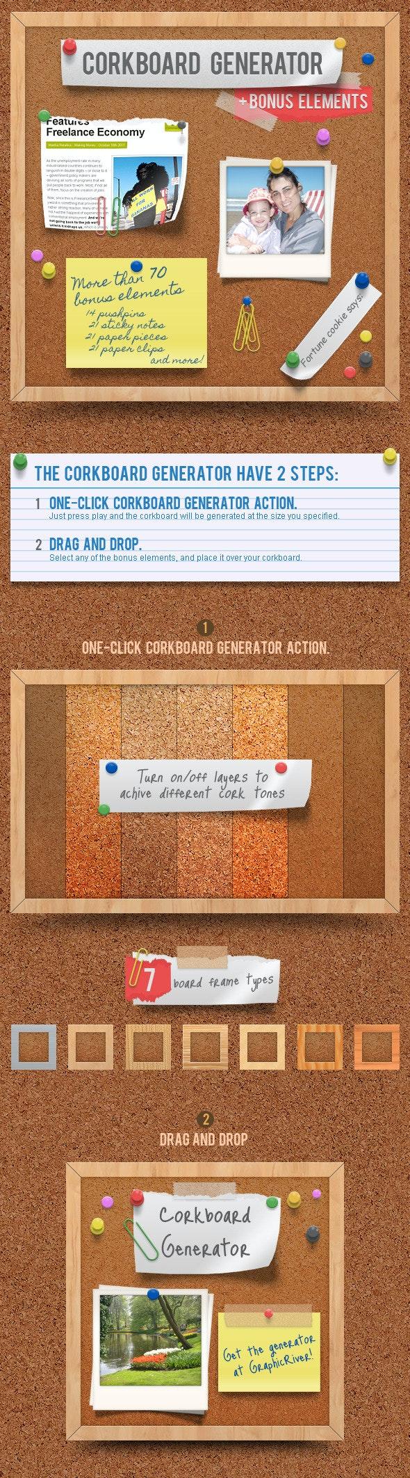 Corkboard - Notice Board Generator Action - Utilities Actions