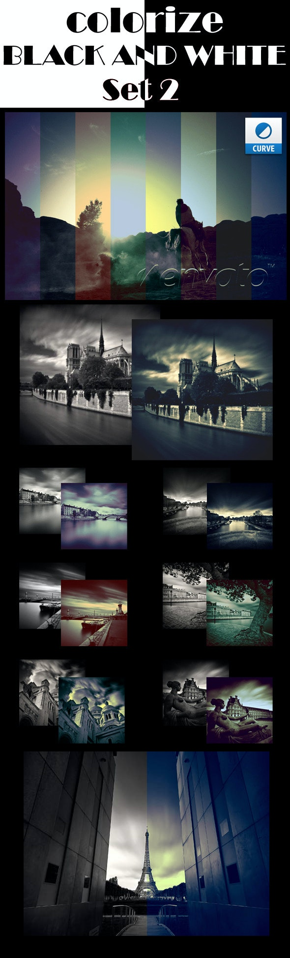 Colorize Black and White Photographies Set 2 - Photoshop Add-ons