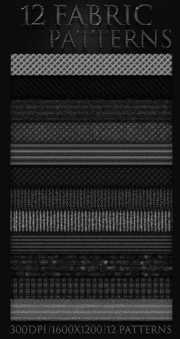12 Fabric Patterns - Artistic Textures / Fills / Patterns