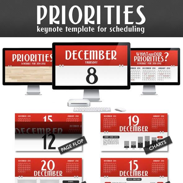 Priorities - Schedule Presentation (Full HD)