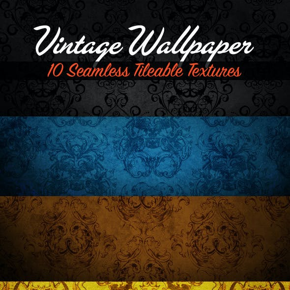 10 Seamless Vintage Wallpapers - Tileable Textures