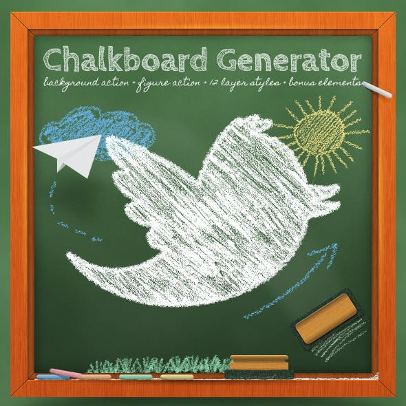 Chalkboard Generator: Action + Layer Styles