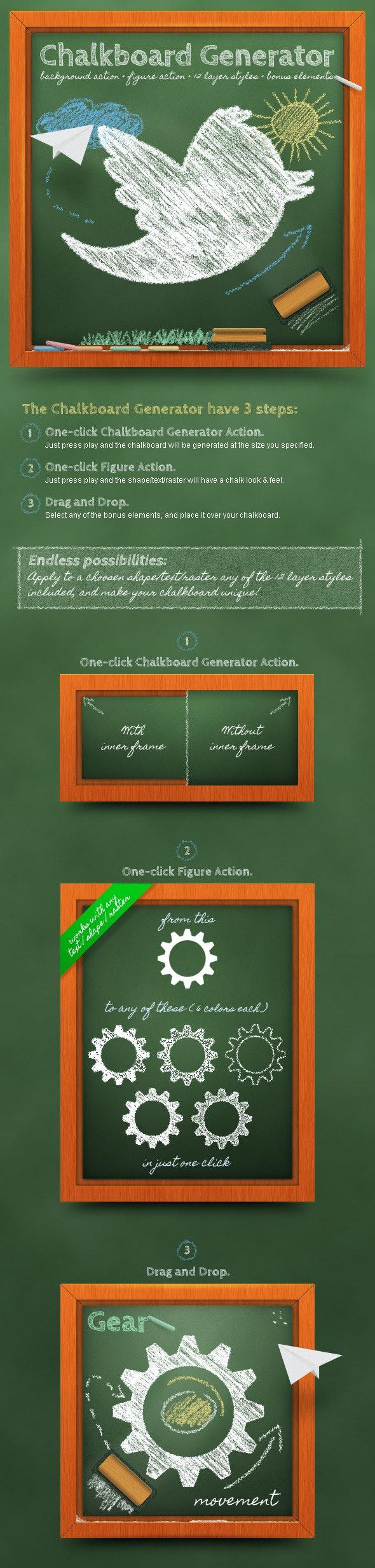 Chalkboard Generator: Action + Layer Styles - Utilities Actions