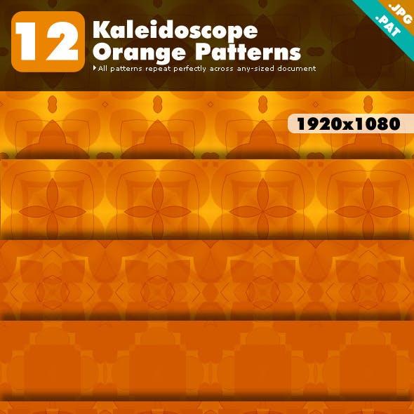 Kaleidoscope Orange Patterns