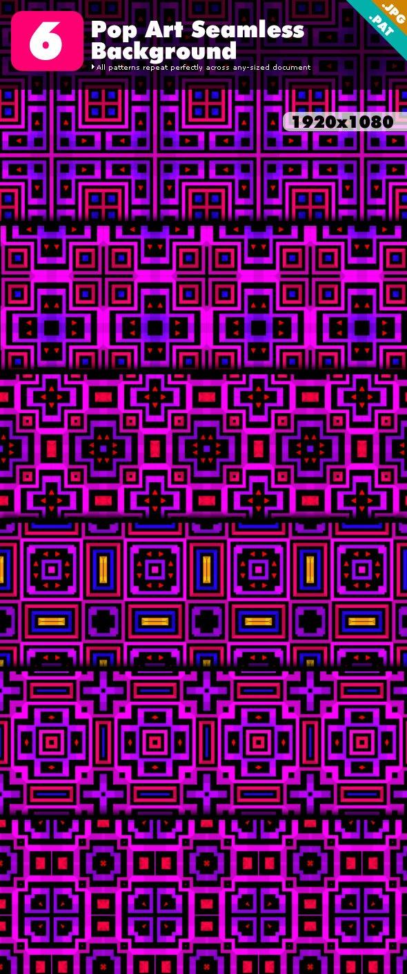 Pop Art Patterns - Techno / Futuristic Textures / Fills / Patterns