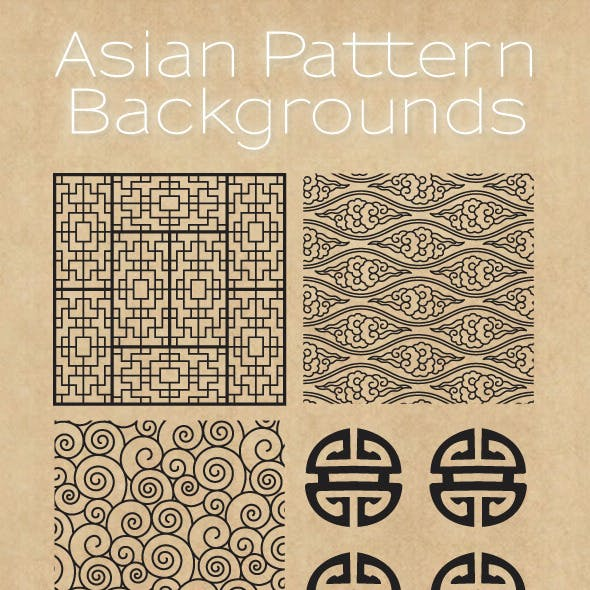 Asian Patterns Background