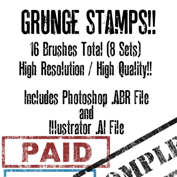 Grunge Brush/Vector Stamp Set Volume 2