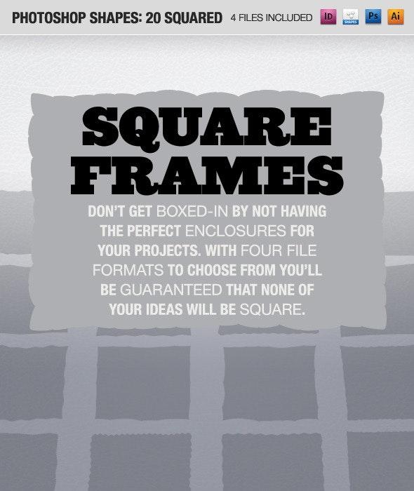 20 Squared Frames - Shapes Photoshop