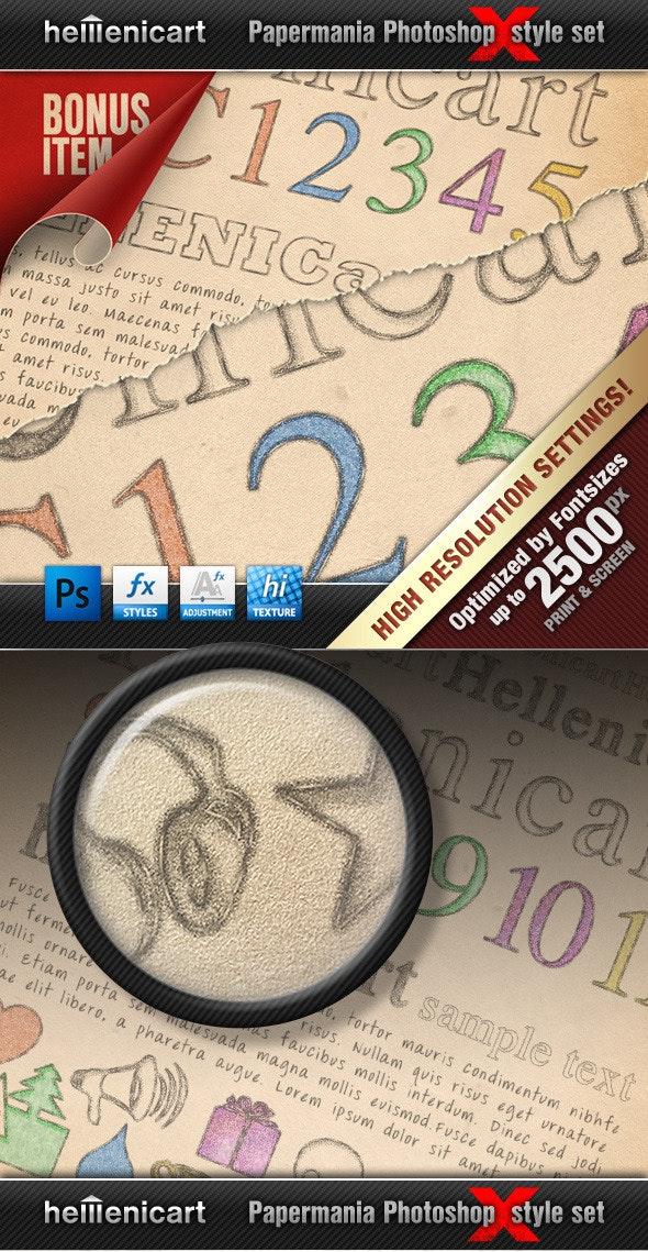 Hellenicart PENCIL & CRAYON Style Set - Text Effects Styles