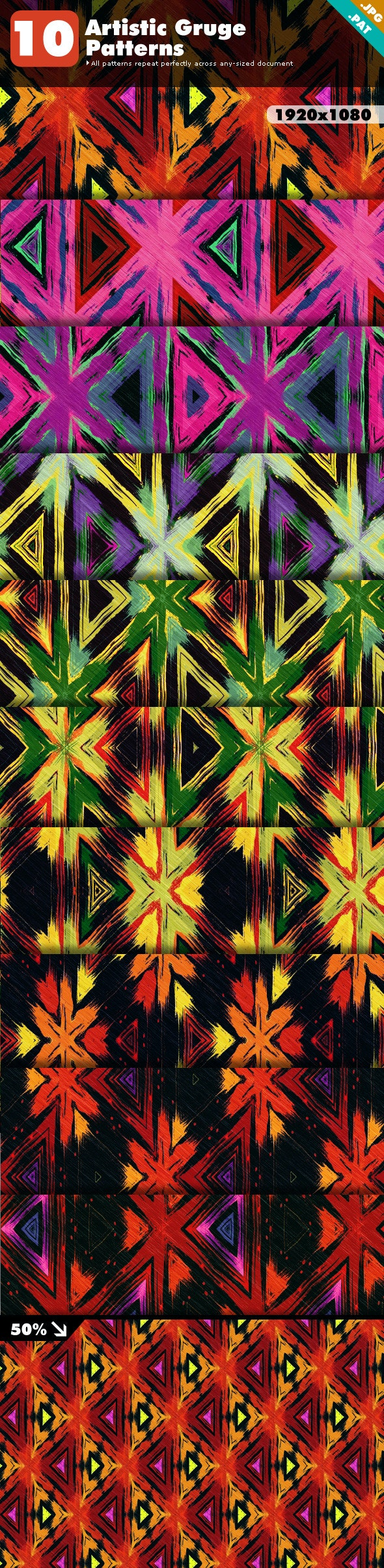 Artistic Grunge Patterns - Artistic Textures / Fills / Patterns