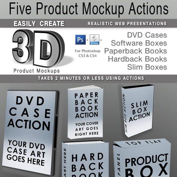 5 Photoshop Product Mockup Actions