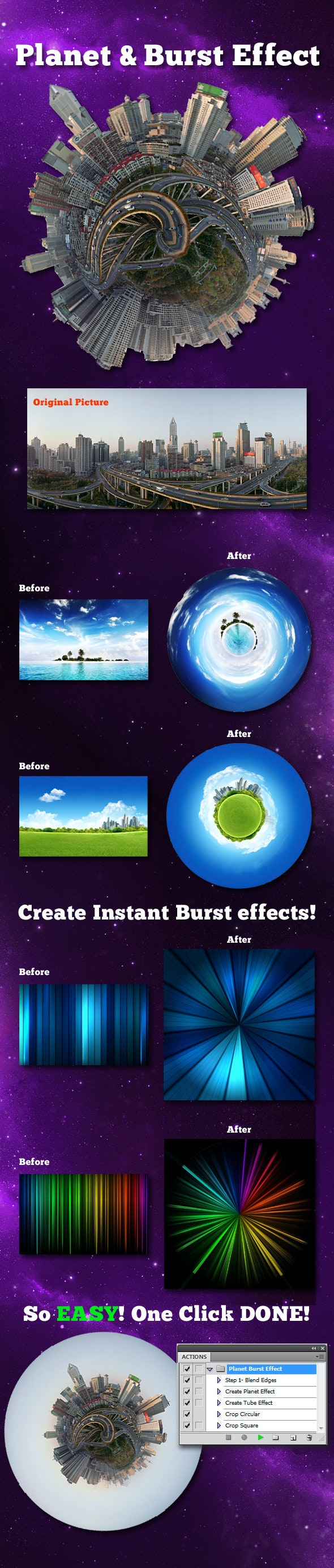 Planet and Burst Effect - Utilities Actions