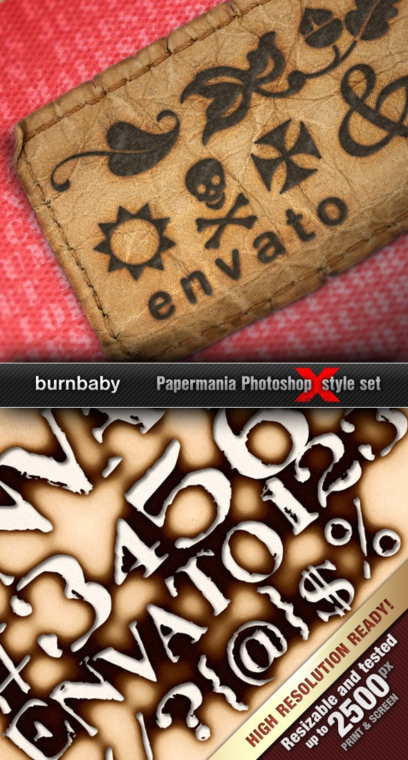 Realistic Burned Styles 'BurnBaby' - Text Effects Styles