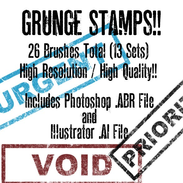 Grunge Brush/Vector Stamp Set Volume 3