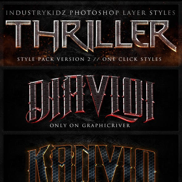 Thriller Photoshop Layer Styles V2