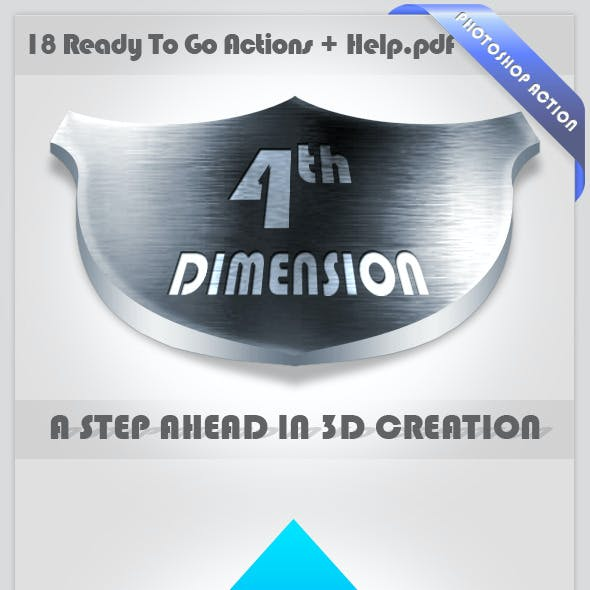 4D Photoshop Action - A Step Ahead In 3D Creation