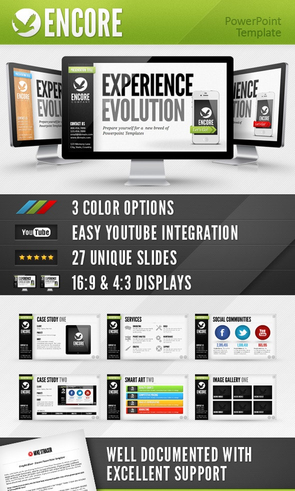 Encore Powerpoint Template - PowerPoint Templates Presentation Templates
