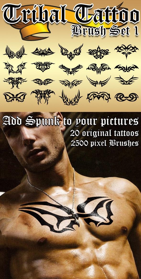 Tribal Tattoo Brush Set 1 - Grunge Brushes
