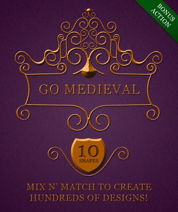 Go Medieval Toolbox [Shapes+Style+Action] - Text Effects Styles