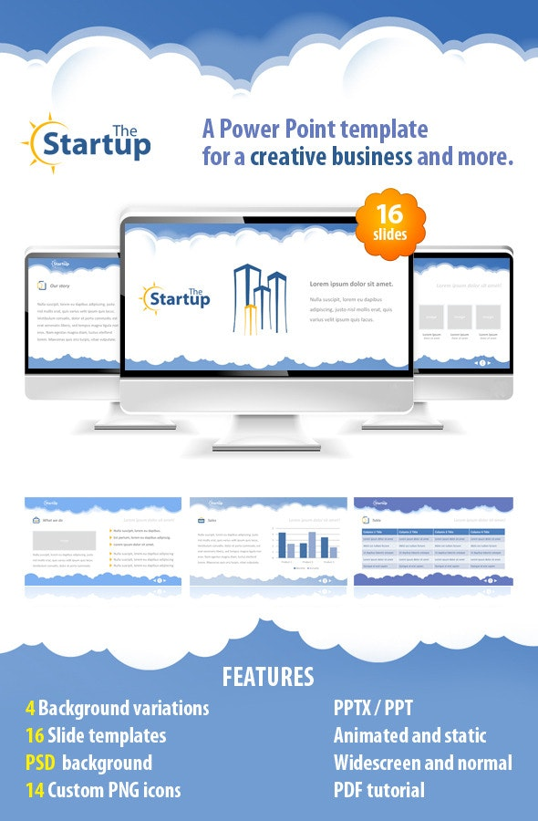 The StartUp - PowerPoint Templates Presentation Templates