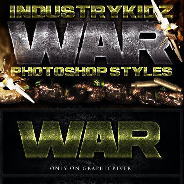 War Photoshop Layer Styles