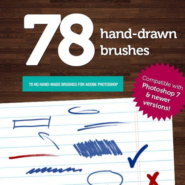 78 Hand-made Photoshop Brushes