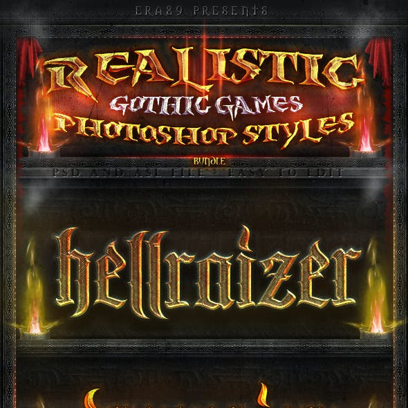 Realistic Gothic Games PS Styles Pack 1
