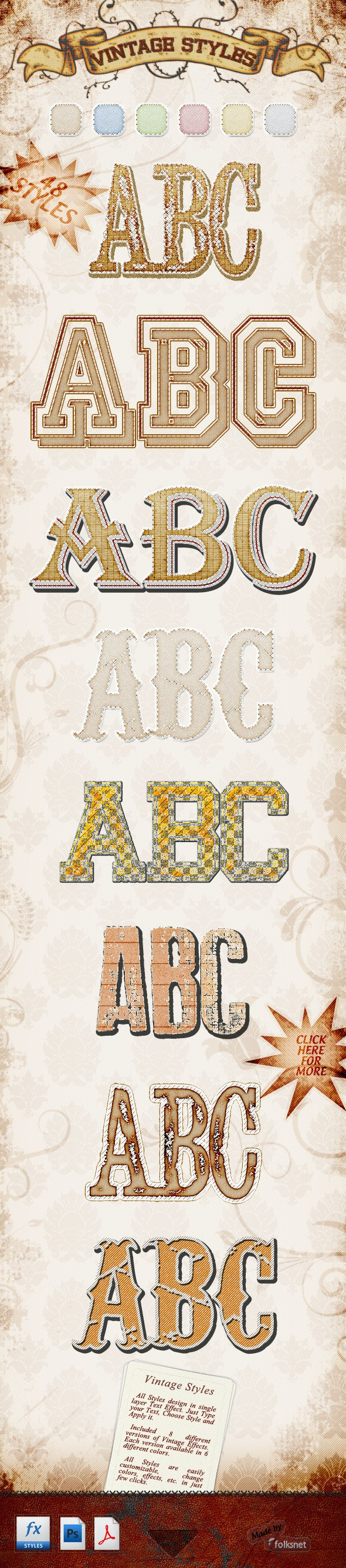Vintage Styles - Text Effects Styles