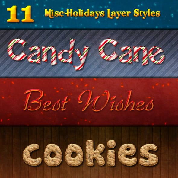 11 Misc Holidays Layer Styles