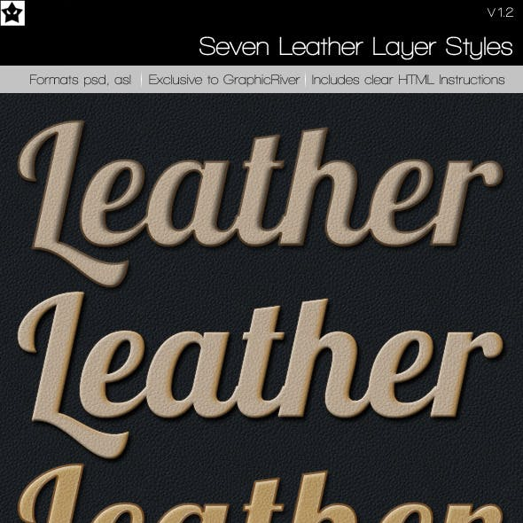 7 Leather Layer Styles