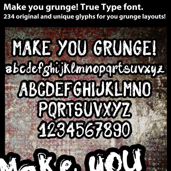 Make You Grunge True Type font