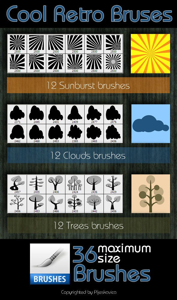 Cool Retro Brushes - Artistic Brushes
