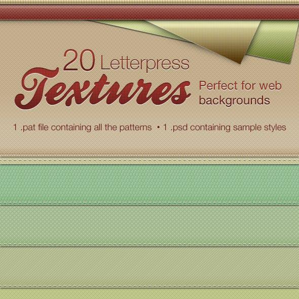 Letterpress Texture Patterns