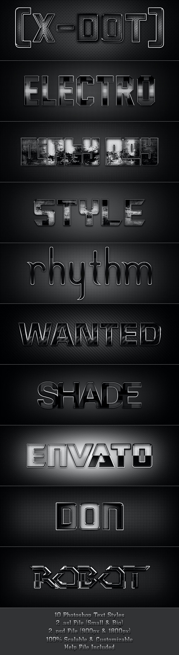 10 Text Styles for Games & Movies - Text Effects Styles