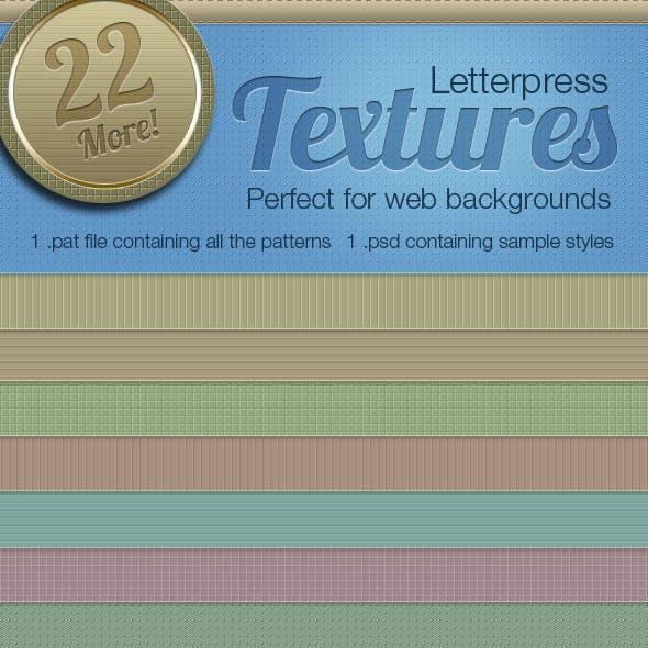 Letterpress Texture Patterns Vol2