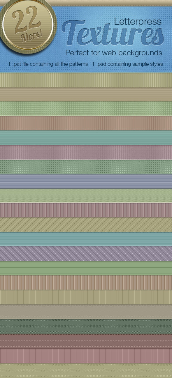 Letterpress Texture Patterns Vol2 - Textures / Fills / Patterns Photoshop