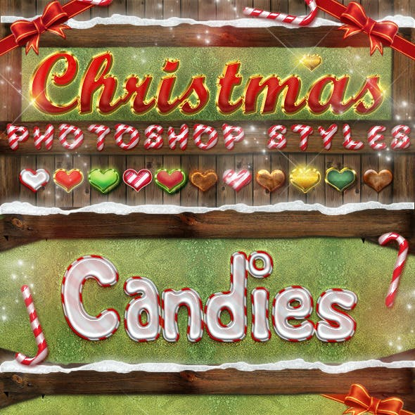 Christmas Photoshop Styles - Text Effects