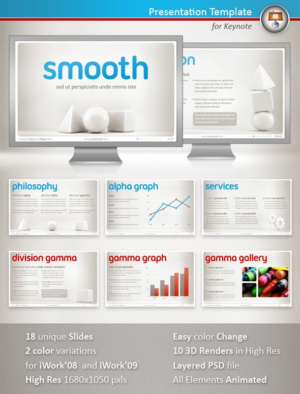 Smooth Keynote Presentation by MaurizioCattaneo | GraphicRiver