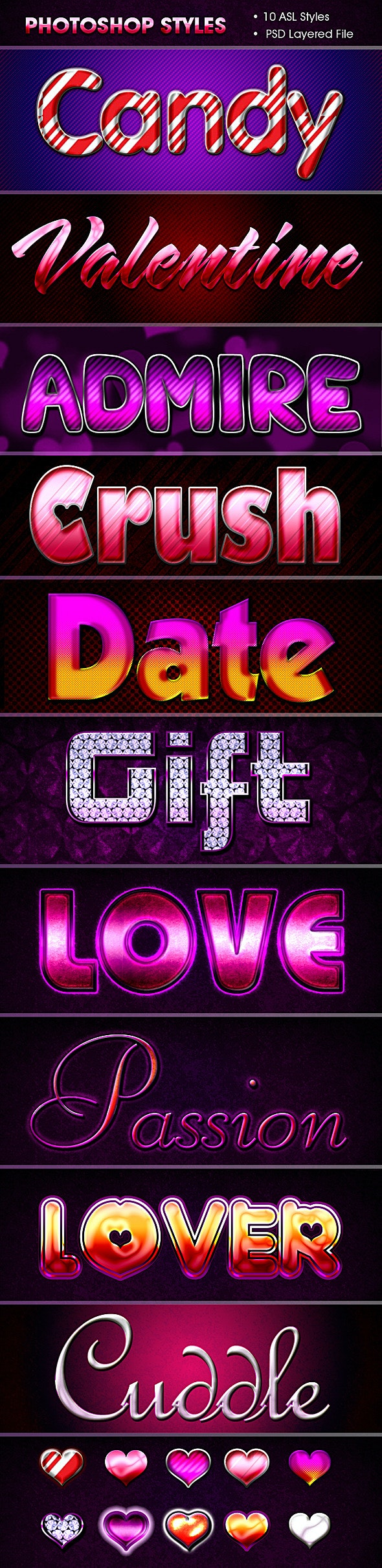 Valentine Styles - Text Effects Styles