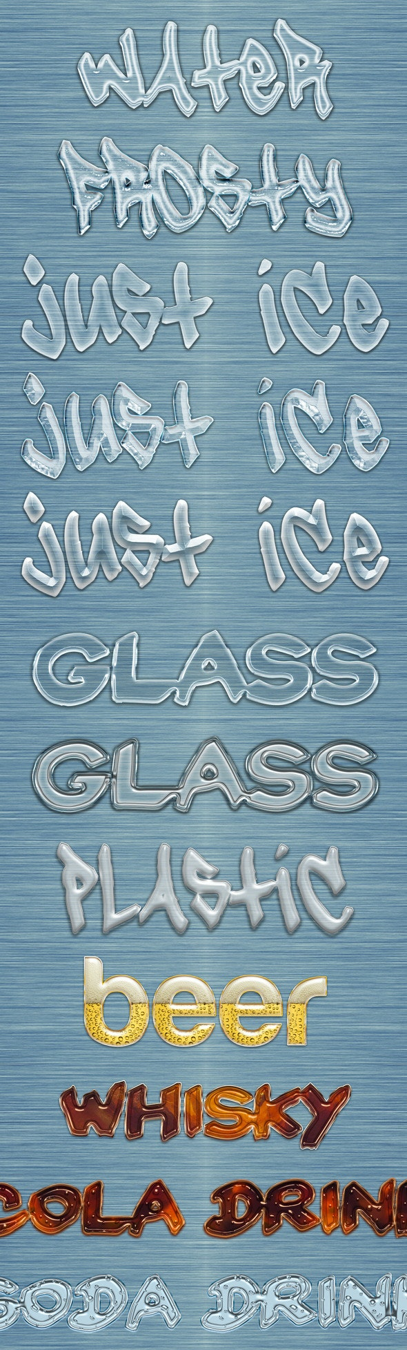 Translucent Liquid Styles - Text Effects Styles