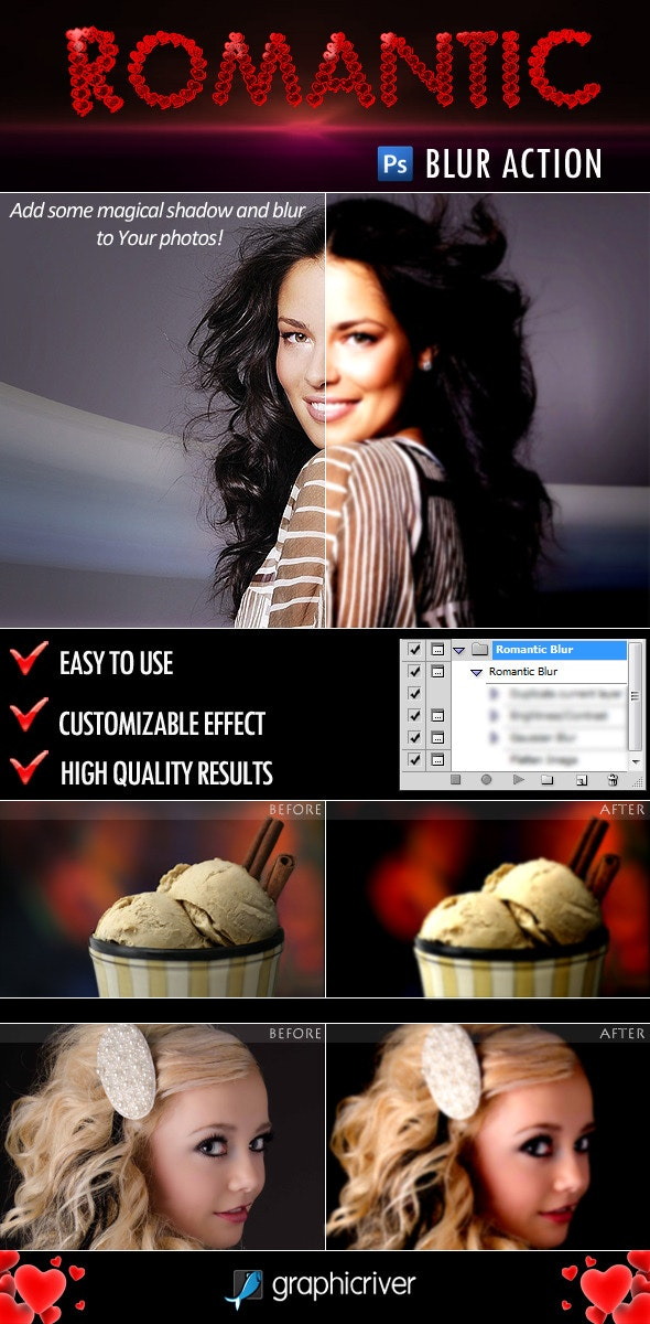Romantic Blur Action - Photo Effects Actions