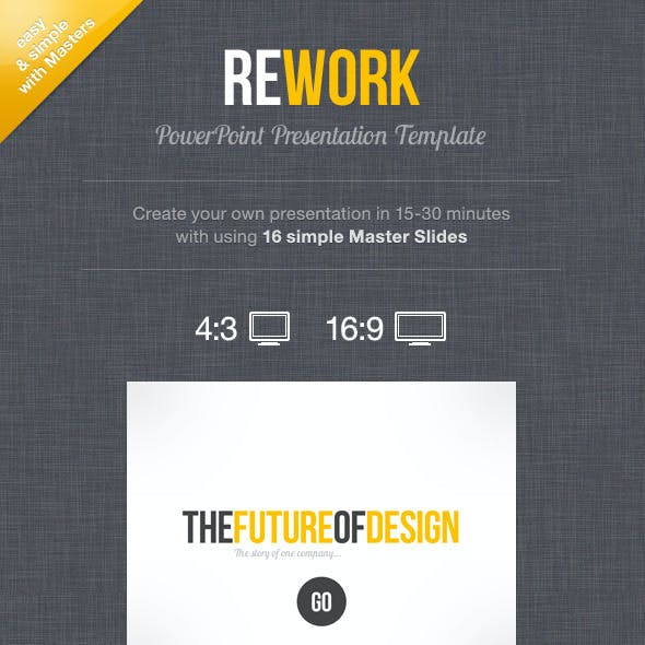 Rework PowerPoint Presentation Template