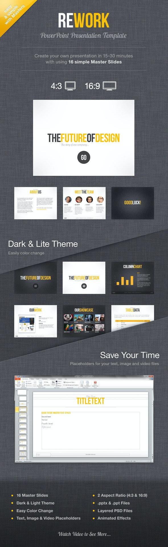 Rework PowerPoint Presentation Template - PowerPoint Templates Presentation Templates