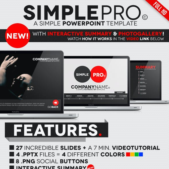Simple Pro - PowerPoint Interactive Template