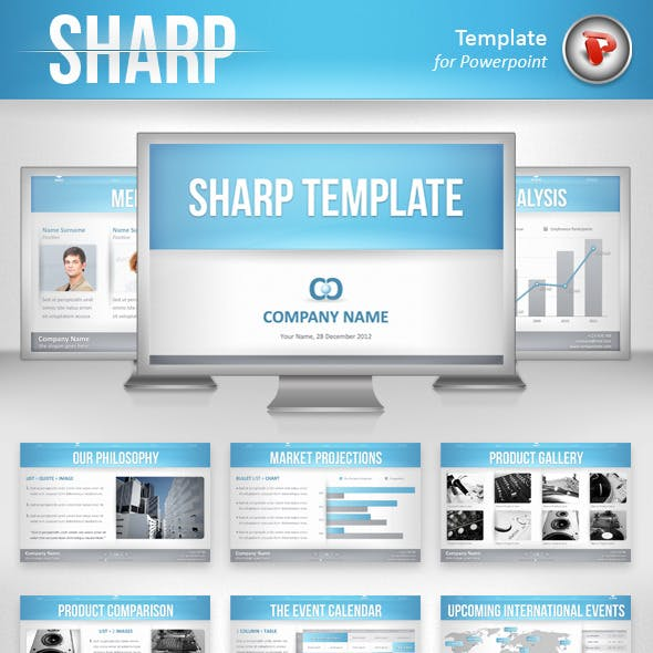 Sharp Powerpoint Template