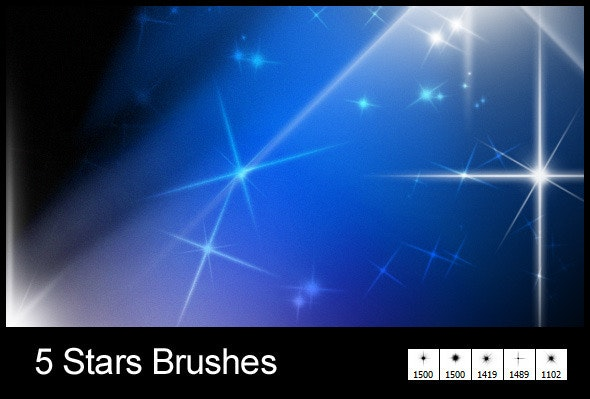 5 New Stars Brushes - Abstract Brushes