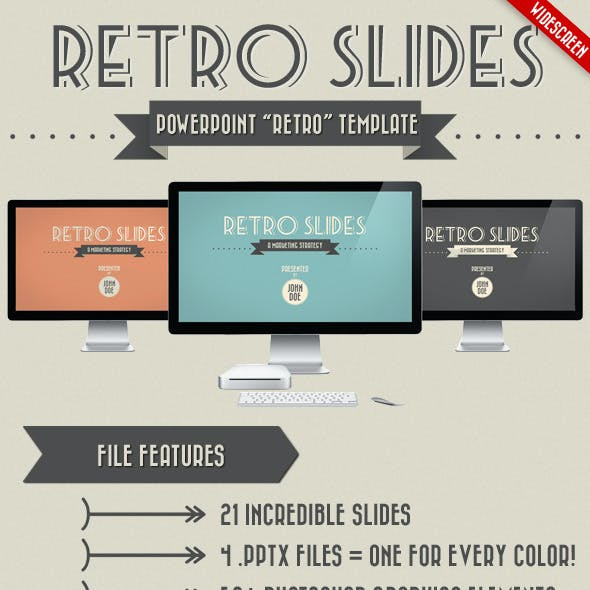 Retro Slides - PowerPoint Template (Widescreen)